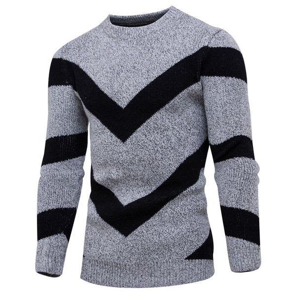 Pivaconis Mens Knit Thin Round Neck Floral Print Long Sleeve Warm Winter Pullover Sweaters
