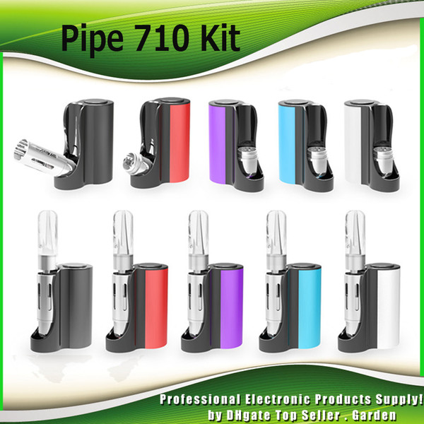 Authentic Vapmod Pipe 710 Mod Starter Kits 900mAh Battery Vape Box Ecig Mods with 0.5ml Ceramic Coil Cartridge Tank Kit 100% Genuine