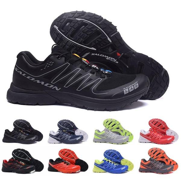 2018 Solomon S-LAB Sense M İndirim Sneakers En İyi Kalite Erkek Ayakkabı Sıcak Satış Moda Atletik Koşu Spor Açık Yürüyüş ayakkabı