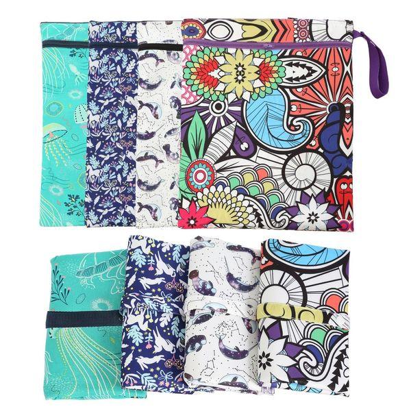 UK 10PCS Clutch Carrying Case Slim Wet Wipe Bag Reusable Refillable Travel Pouch