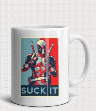Deadpool Superhero Art Poster Marvel Design 11-oz Coffee Mug, Best Funny Unique Ultimate Frisbee Person Tea Cup Perfect Gift Idea