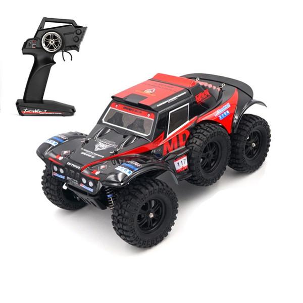 Calidad superior 60 Km / h de Alta Velocidad 2.4G 1/12 4WD Escalada Off-road Truck RC Buggy monstruo coche deriva neumático Bigfoot 6 agregar 3 juguetes de la batería