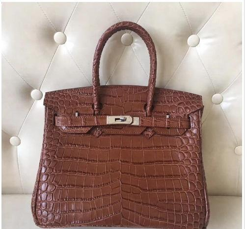 30CM Lady Totes New color Coffee brown white black Alligator Genuine leather Cowhide Shoulder Bags lady Handbag GOOD Quality Free Shipping