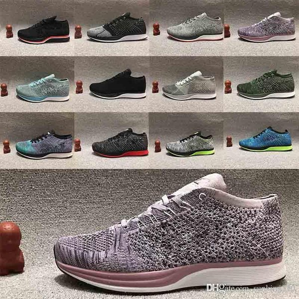 N11-14 2018 Zoom Mariah Fly Racer 2 Women Mens Athletic all black red green Casual Shoes weaving Zoom Racer Sneaker Trainers Size 36-45