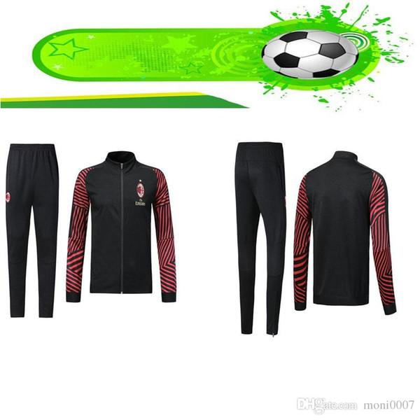 2018 2019 Ac milan black training suit football shirt 19 20 maillot de foot