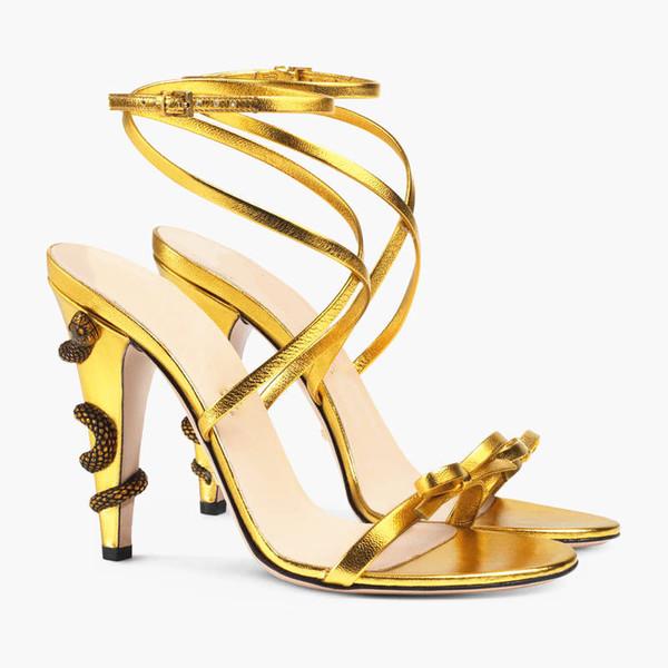 Dernières serpent sandales de rêve sweety de fille d'été femme talon haut ornement pompes SOIRÉE Robe de mariée Chaussures New T Voir Chaussures talon haut