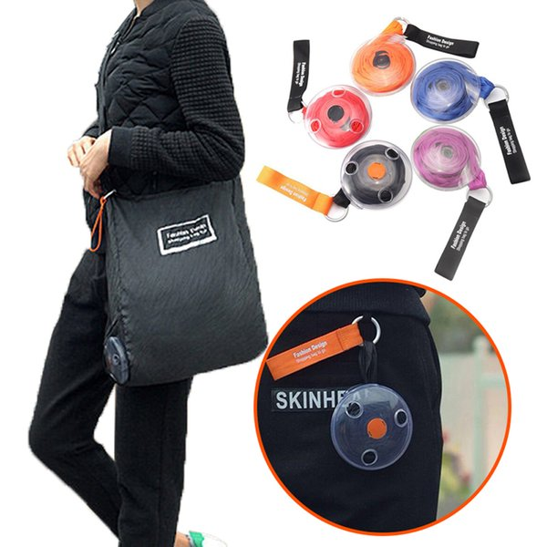 Large Capacity Magic Folding Storage Bag Reusable Recycle Grocery Bag Eco-friendly Home Travel Holder Cloth Handle Disc