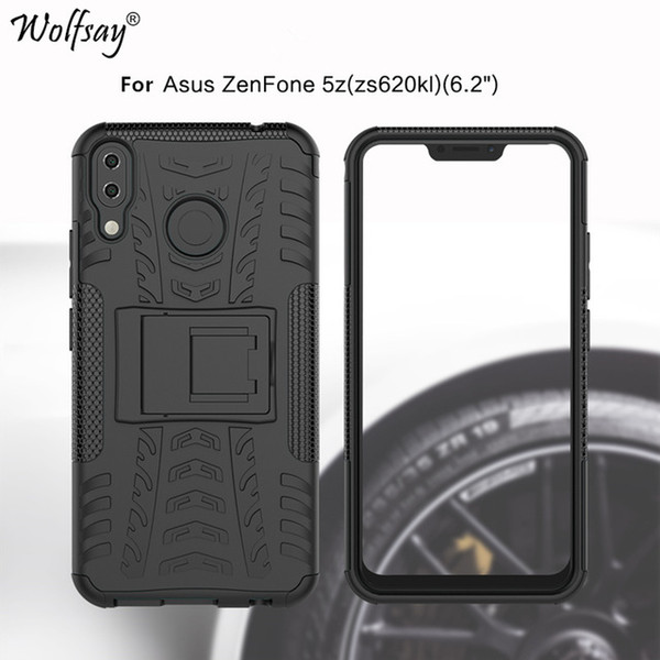 cassa in silicone zenfone Sconti Cellphones & Telecommunications Wolfsay For Phone Cover Asus 5Z   Zenfone 5 ZE620KL Case Antiknock Silicone Armor Case For Asus Zenfone