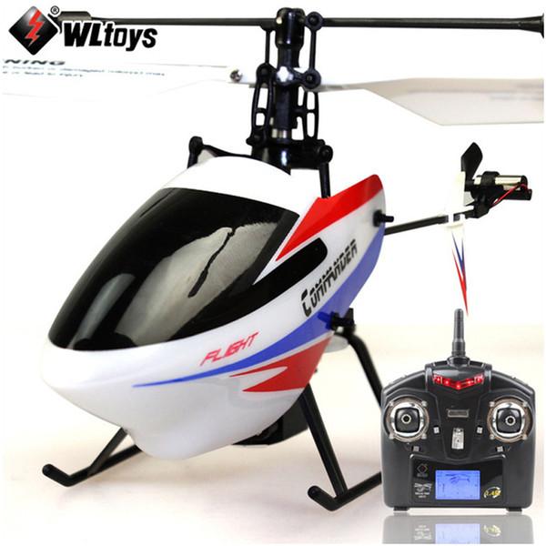 Hélicoptère 4W RC d'origine WLtoys V911-Pro (V911-2) avec gyroscope 2.4GHz Jouet électrique pour enfants RTF (avec deux piles)