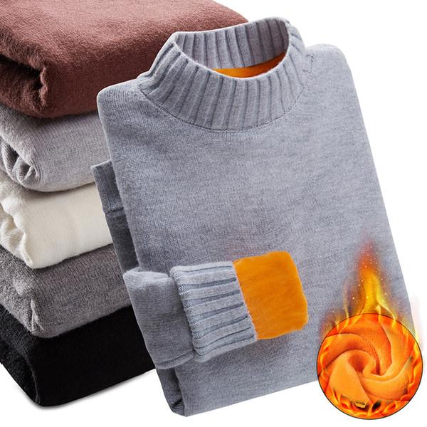 Winter Plus Velvet Thick Warm Sweater Winter Plus Velvet Thick Warm Sweater Men Turtleneck Men Sweaters Slim Fit Pullover Men Knitwear