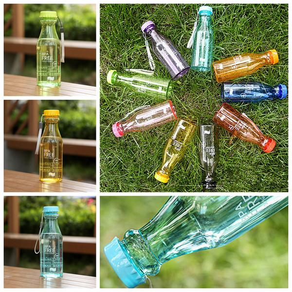 Bottiglia grande da 550 ml Top Bottiglia da 550 ml Bpa gratuita Bicchiere da bicicletta Bicicletta Sport Bottiglia da acqua in plastica infrangibile 9 colori ZZA938