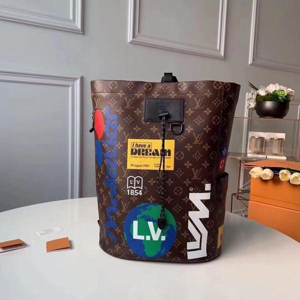 Chalk backpack new arrived travel bag genuine leather hiking backpack for men famou de igner camping hikking backpack