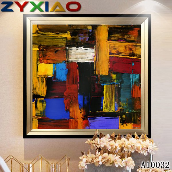 Diy diamond painting cross stitch kit rhinestone full round&square diamond embroidery abstract color home mosaic decoration gift A10032