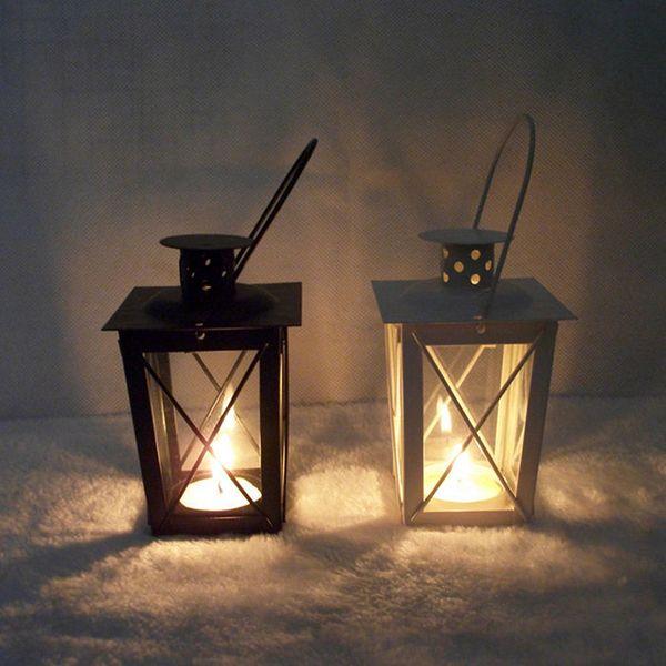 Baroque style Vintage Metal Candle Holder Candlestick Tealight Hanging Lantern Bridal Decor Vintage Candlesticks Home Decor
