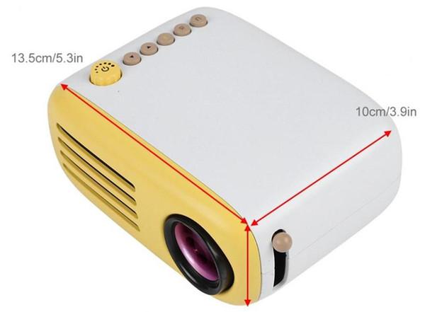 YG200 Fabrik Verkauf Mini tragbare TFT LCD Multimedia-Videoprojektor, Unterstützung USB / HDMI / AC / Micro SD / Micro USB