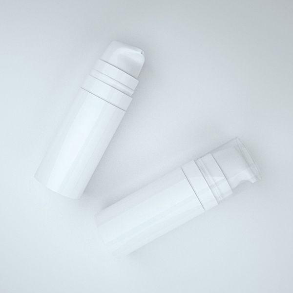 Livraison gratuite 5 ml 10 ml blanc mini Airless Lotion Pump Flacon, échantillon et bouteille de test, Airless Container, Emballage cosmétique