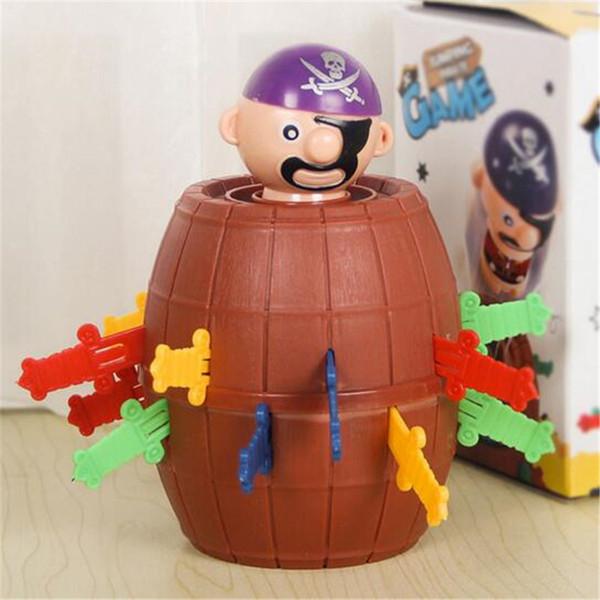 DHL Juegos de mesa Pirate Fun Toys Barrel Novelty Toys Stress Relief Juguete Familia Divertido Lucky Baby Kids Toys Party Juego interactivo Regalos