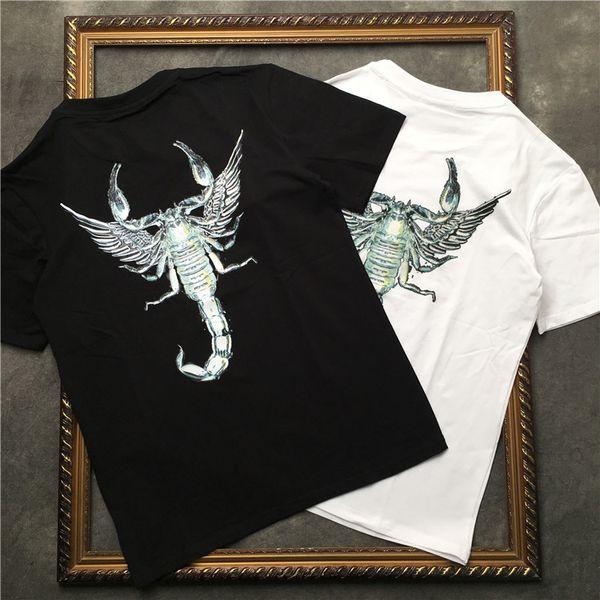 Summer t shirt for Mens Brand Fashion Animal Scorpion Print T-shirt High Quality Cotton Short Sleeve Male Tees