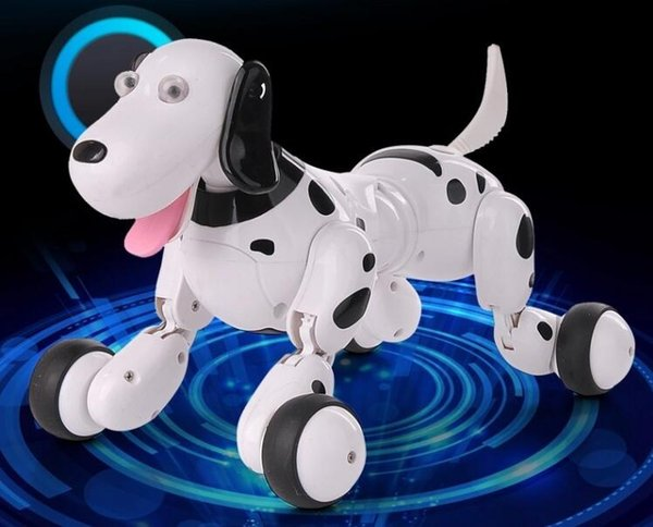 Happy Cow 2.4G RC Smart Dog Realistic Smart Dog Programmable Radio Remote Control Educational Intelligent Dog Robot Toys for Kids