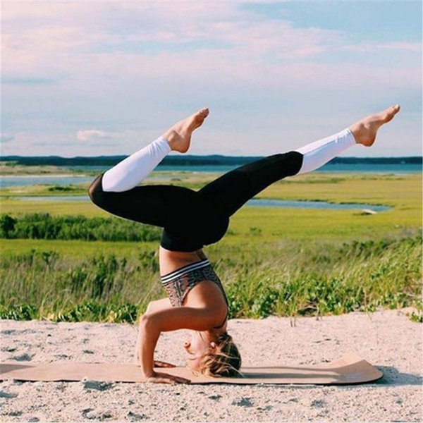 Mesh Hohl Energie Strumpfhosen Frauen Fitness Gym Leggings Atmungsaktive Patchwork Sport Leggings Training Yoga Hosen Mallas Deporte