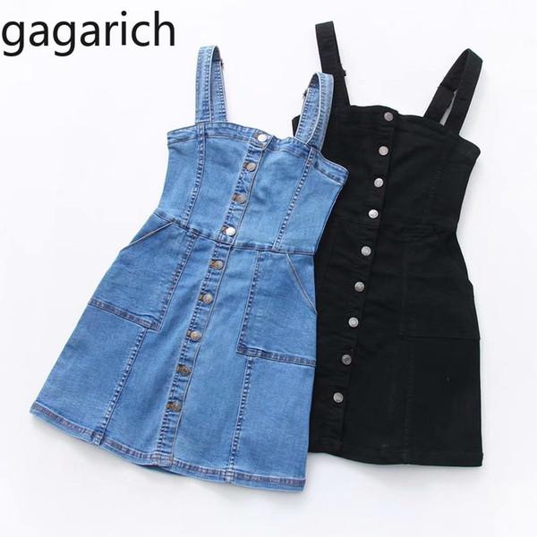 Compre Gagarich 2019 Verano Otoño Vestido De Mezclilla Vestido De Mujer Vestido De Overol Sarafan Chica Vintage Blue Sexy Bodycon Jeans Mujer A 4621