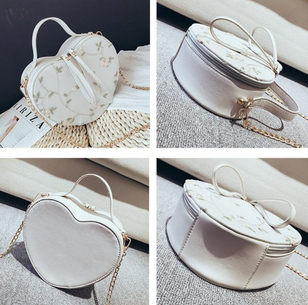 Embroidered Lace Flower Female Tote Bag 2019 New Women's Designer Handbag Quality Pu Leather Ladies Chain Shoulder Messenger Bag