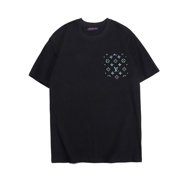 Top Verão camiseta Novo designer de marca dos homens t-shirt tops Branco T-Shirts Hip Hop Esporte Tees de Algodão