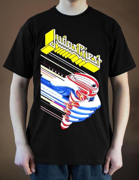 JUDAS PRIEST Turbo ver. 1 T-Shirt Heavy Metal Hard Rock Ian Hill (Preto) S-3XL Algodão de Qualidade Superior Homens Casuais T Camisas Dos Homens Frete Grátis