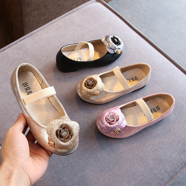 Autumn Girl Camellia Small In Child Princess Single Shoe Small Leather Toddler Girls Fashion Shoes Dance Shoes Tide