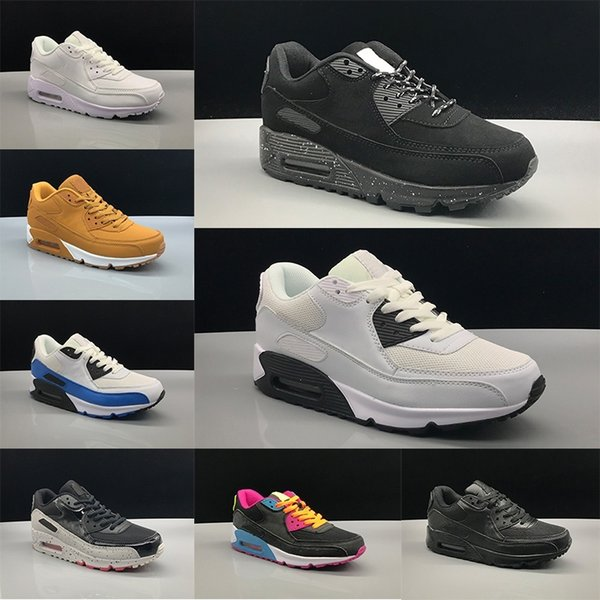 New Fashion 90 Men women classic Running Shoes 90s Black Red White Designer Sports Cushion Surface Breathable Trainer Sneakers Size 36-45