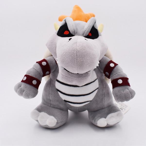 25cm big Super Mario Fire dragon Bowser / Koopa Peluche Peluche Drago di fuoco Bowser / Koopa Super Mario peluche miglior regalo bambola lol