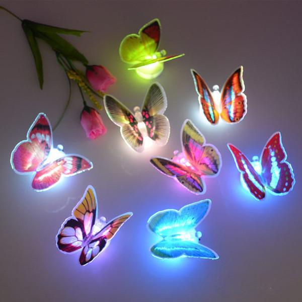 4шт бабочка красочный маленький ночной свет бабочки образный свет свечение ночной сон