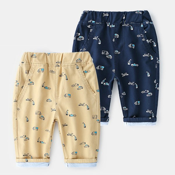 New Summer Style Foreign Trade Original Single Brand Childrens Wear Boys Printed Car Cotton Seven-cent Pants And Shorts Wholesale