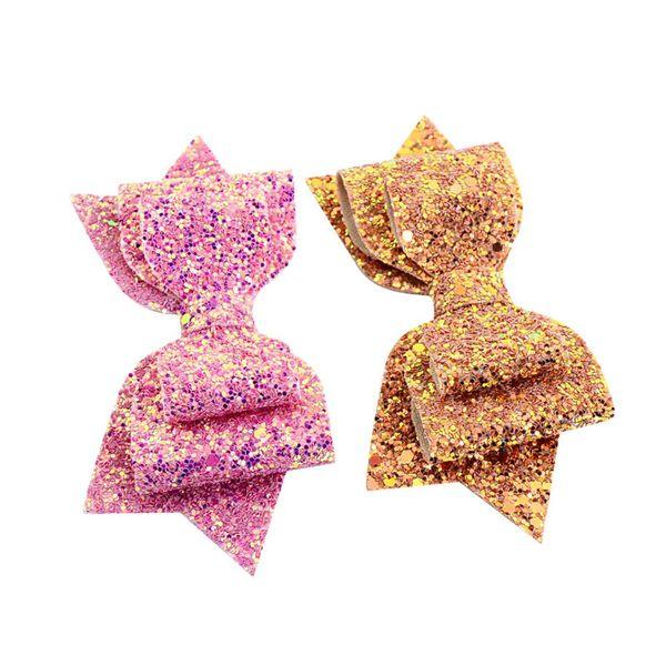 2019 Ins Glitter Bowknot Sequins Hairpins Girls Hair Bows Clips Shiny Glitter Cute Baby Hairpins Barrettes Headdress Hair Accessories