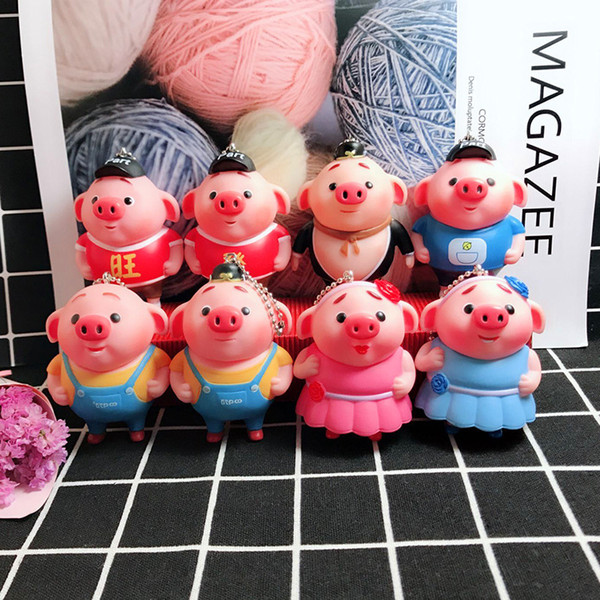 Pig year fashion cartoon journey to the west, pig eight Ring car bag pendant key chain children's small gift wholesale