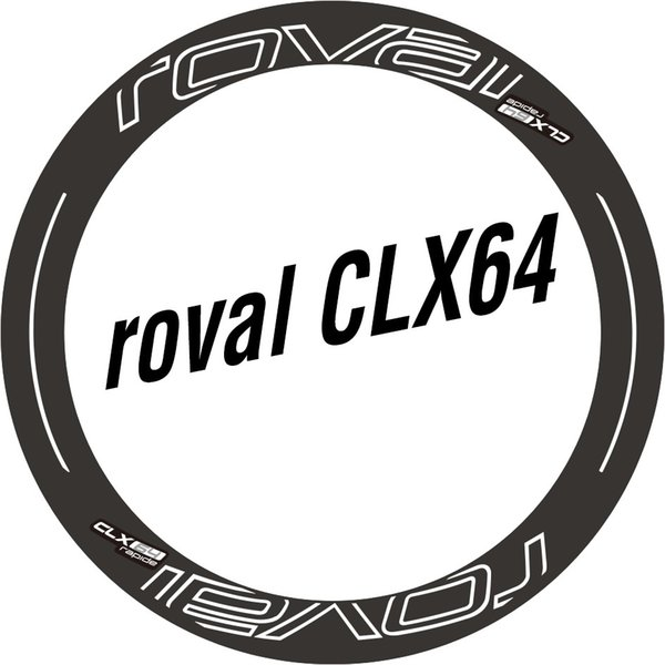 Two Wheel Set Stickers for Roval CLX 64 CLX64 Disc / Rim Brake Water Proof Sticker for Road Bike Race Cycling Bicycle Decals #137307