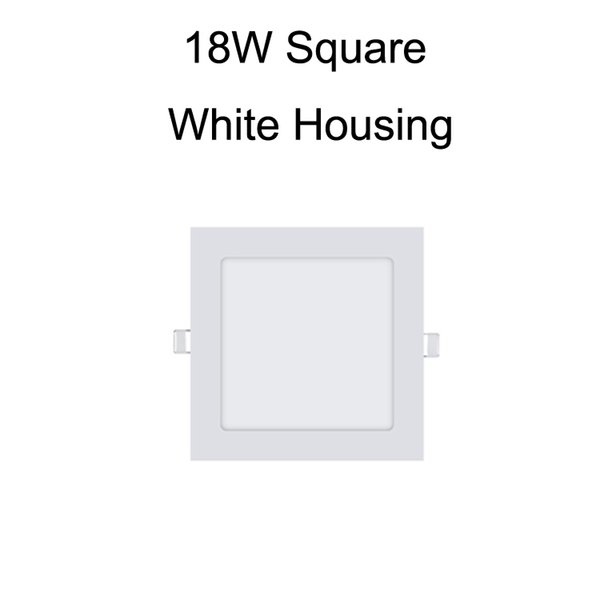 18W Square White Housing