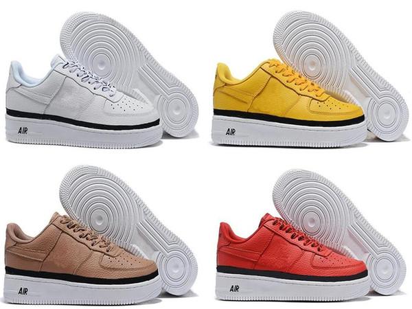 Yüksek kaliteli Moda Zorlama CORK af1 Erkekler Kadınlar Bir 1 Koşu Ayakkabıları yüksek Düşük Kesim Tüm Beyaz Siyah Kahverengi Renk Rahat Sneakers eur