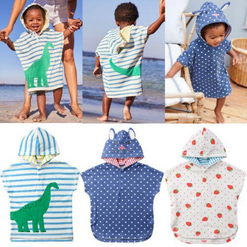 Toddler Beach Manteau Cover Up Doux Bande Dessinée Capuche Serviette Fille Garçon Nager Beach Bath Wear Enfants Peignoir 1-6A