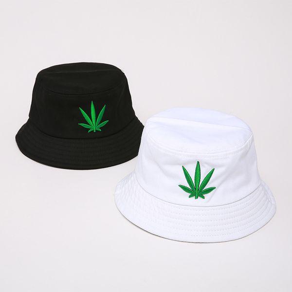 Casquillo del cubo visera informal Swag de Bob Cubo hombres de las mujeres del sombrero de Hip Hop Pescador sombreros de Panamá del bordado del algodón del verano al aire libre