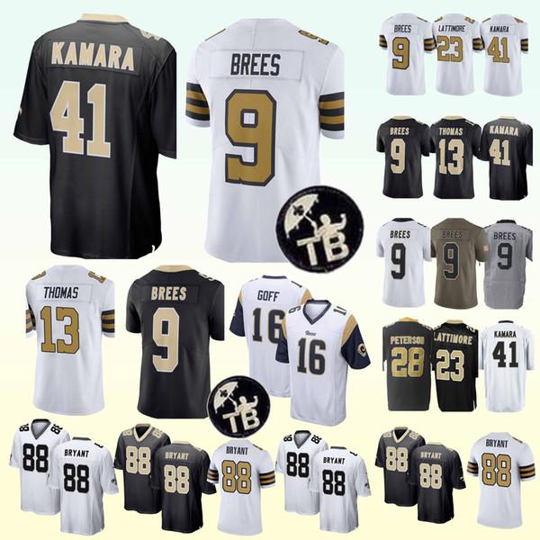 New Orleans 55 Saints jerseys 41 Alvin Kamara 9 Drew Brees 23 Marshon  Lattimore 13 Michael Thomas new jerseys 239b45040