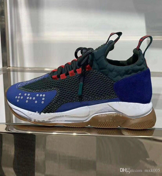 New lates Chain Reaction Casual Designer Sneakers Sport Fashion men women Casual Shoes Trainer Lightweight Link-Embossed Sole 14