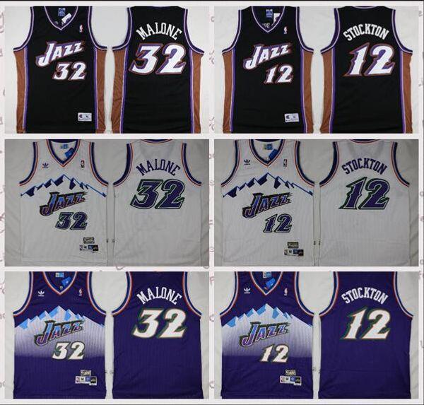 cheaper 916a7 ad210 Utah Jersey Jazz Men'S 12 Stockton 32 Marlon Logo Embroidered Basketball  Jersey Italian Shirts Party Shirts From Bestjersey4, $18.9| DHgate.Com