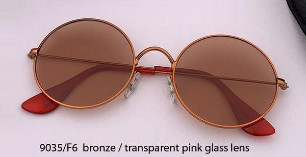 9035/F6 bronze/transparent pink