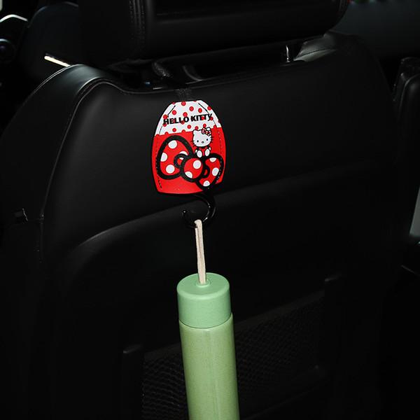 1PC Autositz Haken Kitty-Katzen-Cartoon-Sitzrückseiten-Haken Multifunktions Versteckte Pothook Kawaii Car Organizer Zubehör