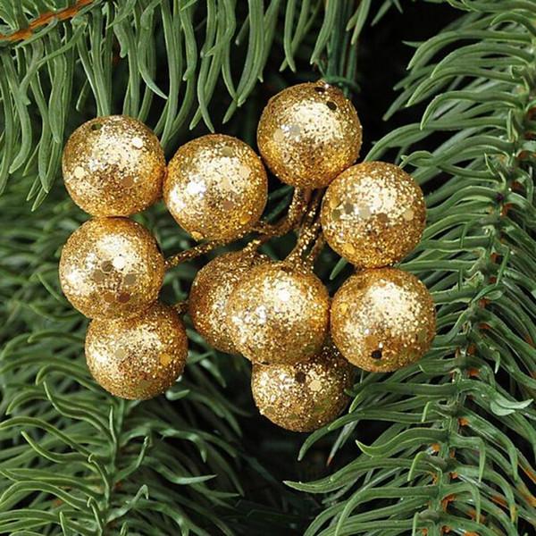 Gros-10Pcs / lot Arbre de Noël Suspendus Boules Red Sliver Or Suspendus Boules Pendentif DROP Ornement Pour La Décoration De Fête