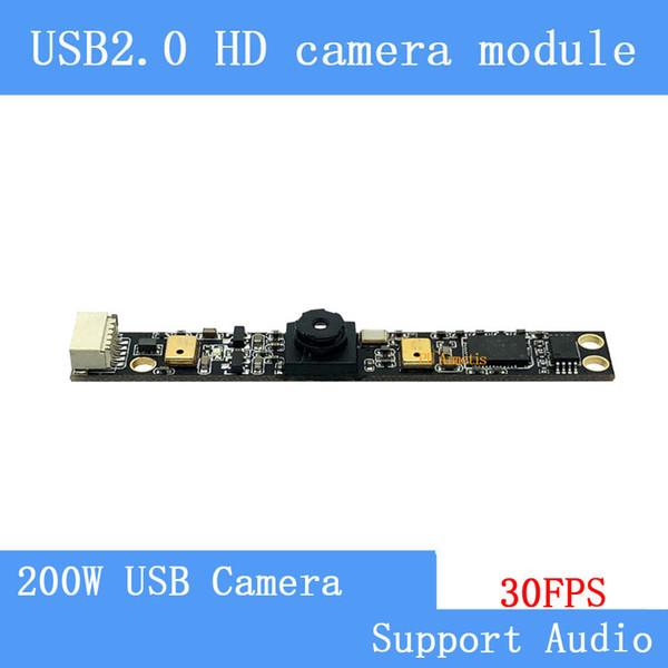 USB 2.0 High-Definition-Überwachungskameras 200-W-Laptop integrierte Doppelmikrofone UVC MJPEG 30FPS USB-Kameramodul