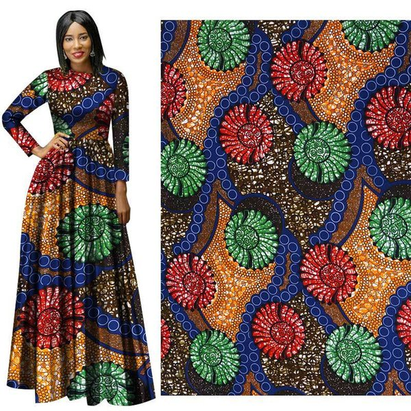 African fabric batik printing cotton fabric for dress geometric pattern wax printing cloth factory direct sales