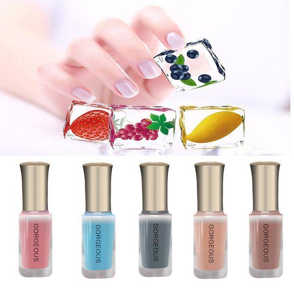 10ML Translucent Nail Polish Jelly DIY Nail Art Gel Long Lasting Enamel Paint Manicure Tint Polish
