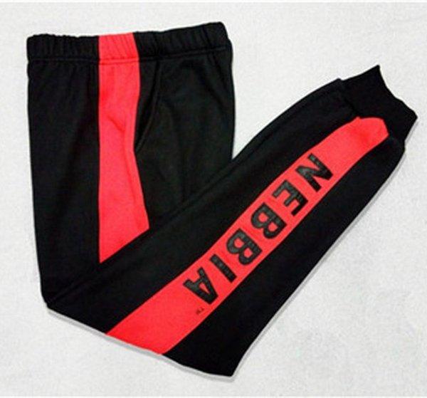 Preto vermelho (Calças)